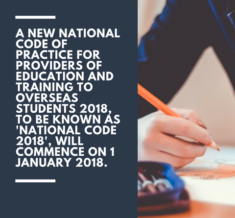 New National Code of Practice for education providers